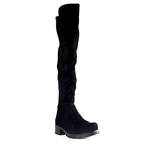 Felmini - Chaussures Femme - Tomber en amour avec Caesars 8911 - Cuissardes Cowboy & Biker - Synthetic Véritable - Noir Noir