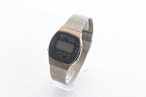 Unbekannt Vintage 1970er Digital LCD Armbanduhr Herrenuhr Piratron P-28639 Weltzeit Uhr
