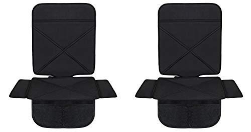 Minetom 2 Pack Autositzauflage Kindersitzunterlage Isofix Geeignet Wasserdicht Autositzschutz Universal Autositzschoner Auto Unterlage Schonbezug Für Kindersitz