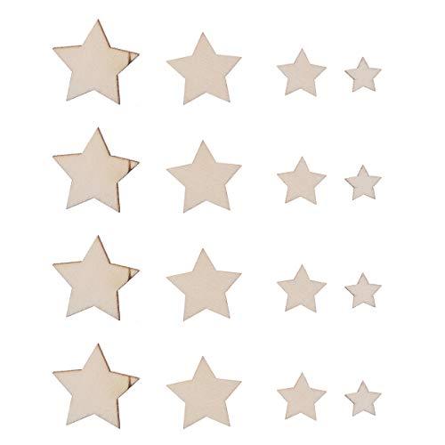 SUPVOX 100 Piezas Adornos Madera Estrellas Bricolaje