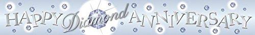 Amscan international - striscione con ologramma per anniversario di nozze di diamante (60 anni), in lingua inglese