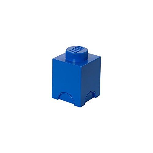 Plast Team PT40011 - Caja diseño Ladrillo de Lego en color azul [Importado de Alemania]
