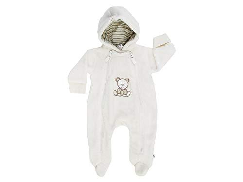 JACKY Unisex Baby Latzhose Overall mit Umschlaghandschuh NOS Bear, Elfenbein (Off-White 1500), 68