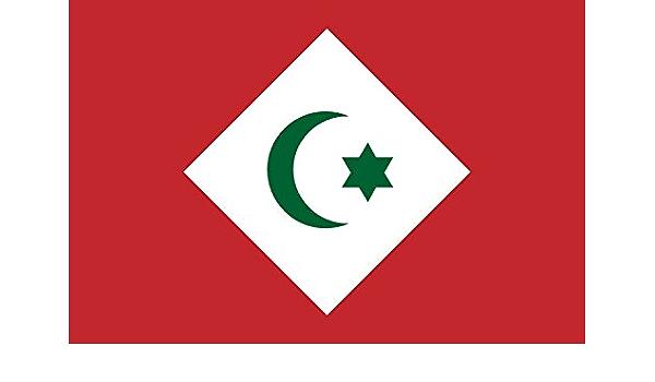 Diplomat Flagge Republic Of The Rif République Du Rif República Del Rif Querformat Fahne 0 06m 20x30cm Für Flags Autofahnen Garten