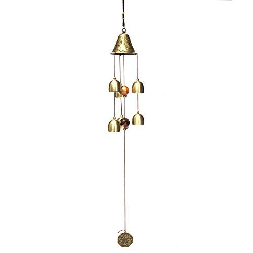 Zeile Sechs Licht (Inovey 6 Glocken Kupfer Uhr Garten Garten Leben Im Freien Erstaunliche Windspiele)