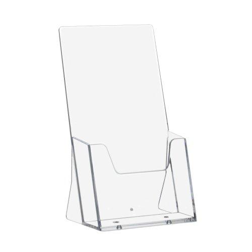 10 Stück DIN Lang Prospekthalter / Prospektständer / Flyerhalter / Flyerständer / Tischprospekthalter im Hochformat