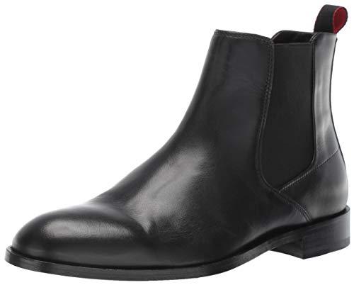 BOSS Hugo Herren Smart Chelsea Boot, elegant, schwarz, 40 EU