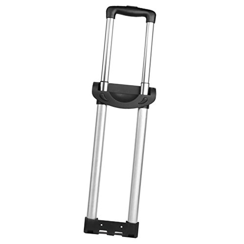 SM SunniMix Portable Pliant Bagage Poignée Grip Valise en Alliage D'aluminium Tronc Barre D'attelage pour Delsey - Noir, Deux Barres