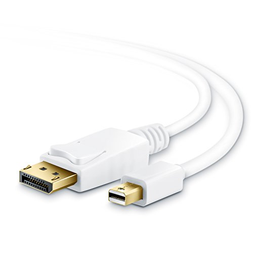 CSL - Full HD 1m cable de Mini Displayport (miniDP) a Displayport (DP) | Certificado | Contactos bañados en oro de 24 ct | PC & MAC / iMAC, MacBook Pro, MacBook Air, y muchos más