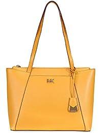 88a310e560d2 ... canada michael michael kors womens metallic maddie medium tote bag gold  d4926 76713