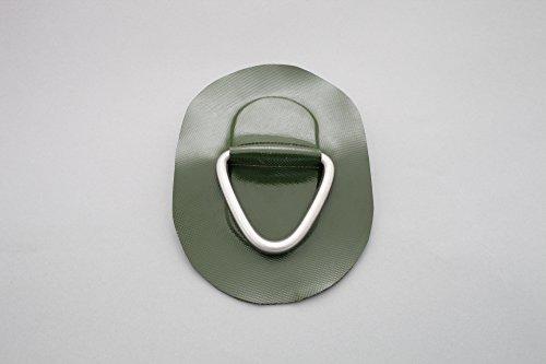 D-Ring für Schlauchboote (grün), Beschlag zum Aufkleben aus Valmex Bengar DR-01