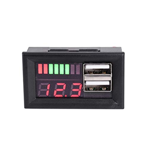 Enyu 12V digitale misuratore di tensione batteria auto moto voltmetro pannello W USB 5V Output