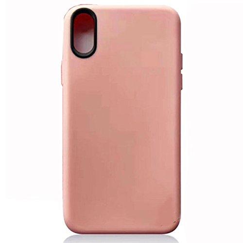 iPhone 8 Hülle Silikonhülle für Apple iPhone 8 Hülle Silikon TPU Schutzhülle Slim Case Cover, Weiß Rosa
