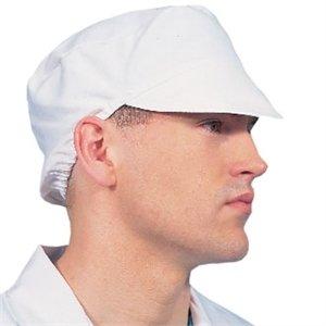 Les Blancs Chefs Apparel A215Bakers Cap, Blanc