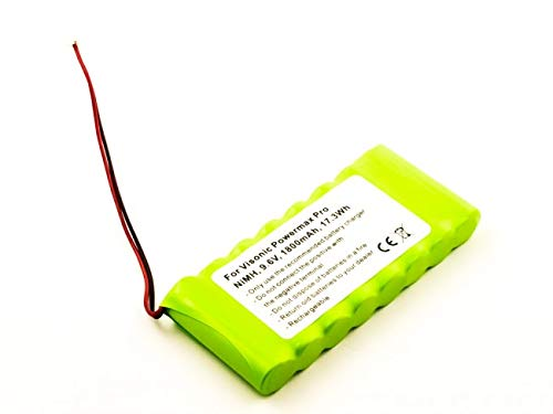 AccuCell - Batteria per Visonic Powermax Pro, NiMH, 9,6 V, 1800 mAh, 17,3 Wh