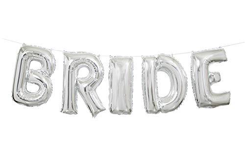 Unique Party Supplies Folie Silber Braut Hochzeit Buchstabe Ballon Banner Kit