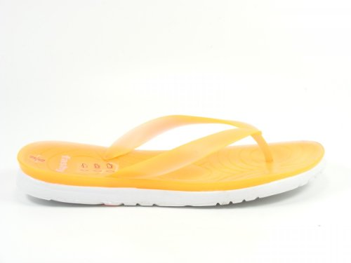 Fashy Schuhe Damen Zehentrenner Badepantoletten V- Strap 7618 Orange