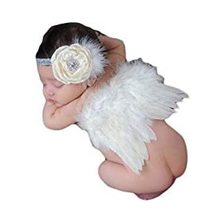 AutumnFall® Baby Angel Feather Wings Wing Set Feather Butterfly Wings Photo Prop - -
