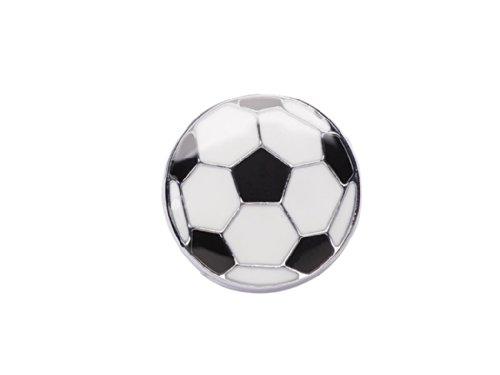 La Loria Fußball-Anhänger, 2 Charms für das Lederarmband oder die Schnürsenkel, schwarz-weiß Fußball-zeichen