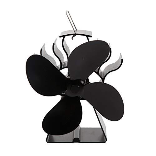 ntilator Kamin Wärme Powered Holzofen Eco Fan Freundlich Quiet Home Effiziente Wärmeverteilung ()