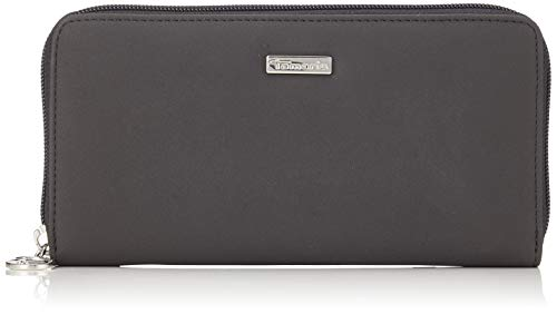 Tamaris Damen ELSA Big Zip Around Wallet Geldbörse, Schwarz (Black Comb.), 2x10x19,5 cm