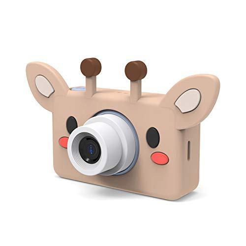 CHuangQi Kinder Digitalkamera, Ultra-klare niedliche Tierform Kinder Kinder Mini-Digitalvideokamera 24MP tragbarer Camcorder mit Cartoon-Aufklebern