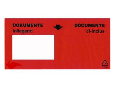 """Preisvergleich Produktbild """"Dokumente inliegend"""" Dokumententasche 240 x 117 + 22 mm (Außenmaß) DIN lang ** Verpackungseinheit: 1000 Stück **"""