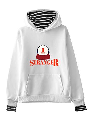 Stranger Things Sudadera Hombre Stranger Things Sudadera Mujer Capucha Demogorgon de Invierno Season 3 Manga Larga 3D Impresi/ón Chaquetas para Ni/ña Ropa Unisex Abecedario Impresi/ón