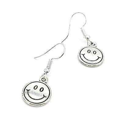 Boucles d'oreilles SMILEY SILVER rond | argenté | HolycusCrafts