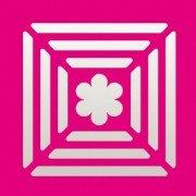 efco Stanzer Quadrat / 3 Rahmen Blume ~ 22 x 22 mm
