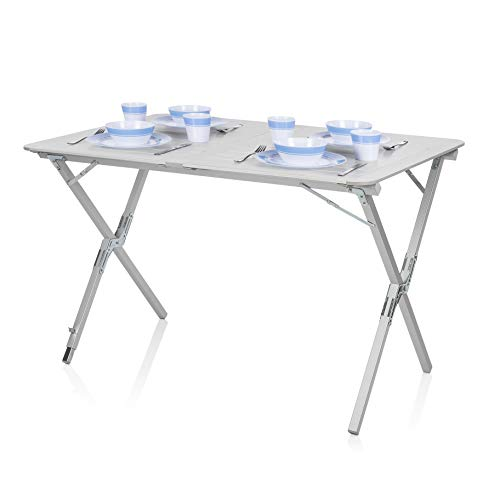 Table de camping Campart Travel TA-0802 - Plateau à enrouler 110 x 70 cm