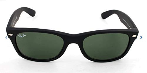 Ray-Ban RB2132 New Wayfarer Sonnenbrille 55 mm, Black Rubber, 55 mm