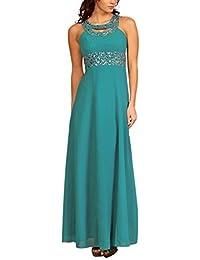 My Evening Dress - Vestido largo de gasa fiesta y coctel con pedreria