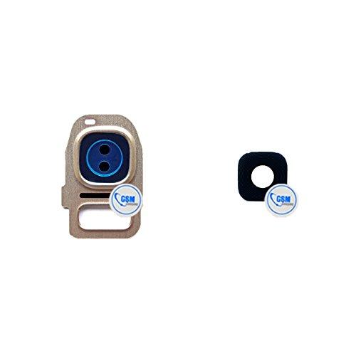 plaque de verre lentille de caméra boîtier de l'appareil photo en pour objectif pour Samsung Galaxy S7 edge G935F or # itreu