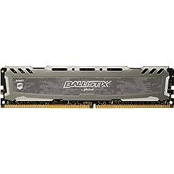 Crucial Ballistix Sport LT BLS16G4D30BESB 3000 MHz, DDR4, DRAM, Memoria Gamer para ordenadores de sobremesa, 16 GB, CL16 (Gris)