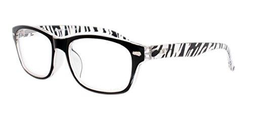 Strike Lesebrille Lesehilfe mit Flexbügeln in Zebra Optik +1