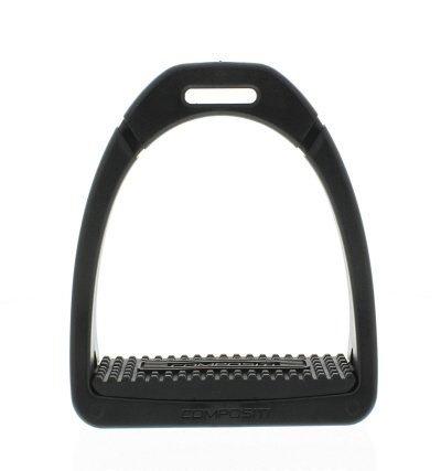 Reitsport Amesbichler Steigbügel aus Kunststoff Compositi Premium schwarz Kunststoff-Steigbügel, 12 cm