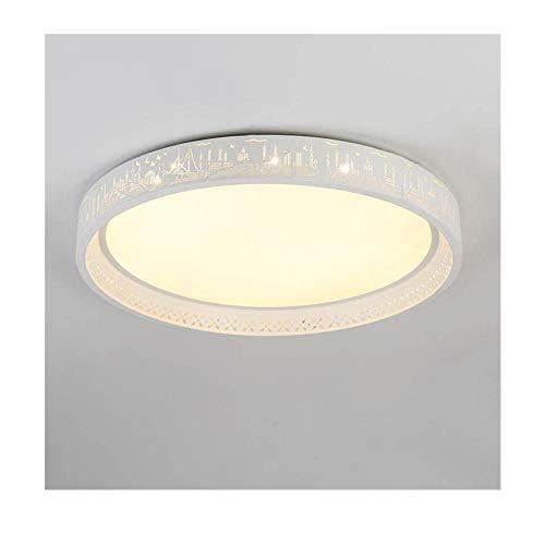 LED Deckenleuchte rund dimmbar Schlafzimmer Wohnzimmer Esszimmer Hotellobby Beleuchtung Dekoration Warm Lights 45CM