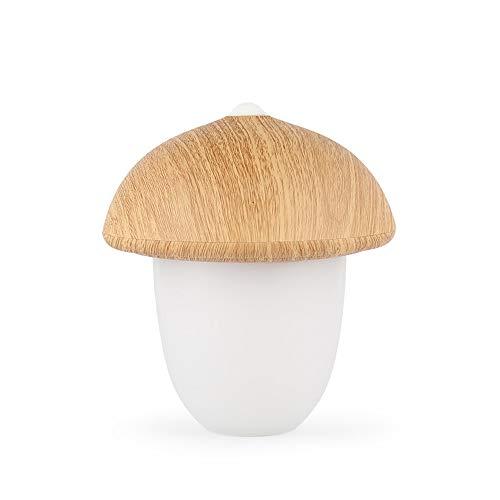 Pilzgestalt aus Holz LED Nachtlicht-Baby Level 3 Helligkeit Adjustable USB wiederaufladbare USB-wiederaufladbare Lichtkinderzimmer/Kindergarten Beleuchtung (Holz)
