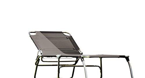 74 Cm largeur 3 pieds en aLUMINIUM 5,9 kg - 40 cm de haut-plage-piscine sauna terrasse bain de soleil chaise longue trois pieds jANKURTZ 207 x 74 cm-hauteur : 40 cm-coloris : tAUPE sTABIELO-charge maximale : 120 kg-dISTRIBUTION-holly ® produits sTABIELO contre supplément avec holly fÄCHERSCHIRMEN sur demande-holly-sunshade ®-innovation fabriqué en allemagne