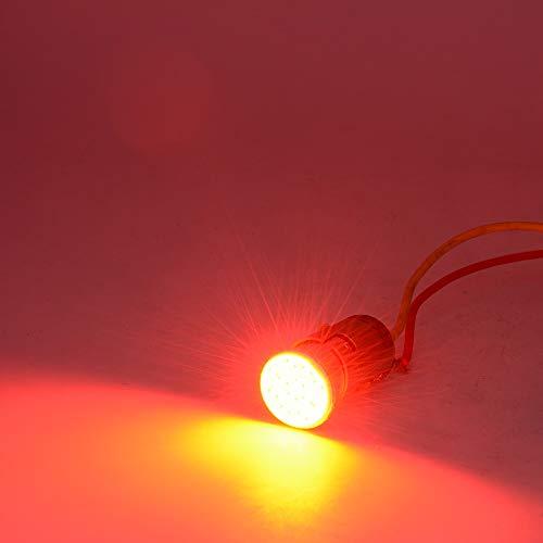 Preisvergleich Produktbild Motorradzubehör Motorrad LED Blinker COB Chip Hohe Helligkeit Motorrad Lampe Multi-Color optional 2 stücke (Color : Red)