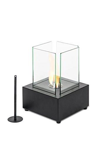 Stones alphaville caminetto da tavolo al bioetanolo, metallo, nero