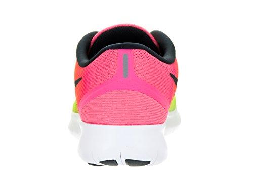 Nike Wmns Free Rn Oc, Chaussures de Running Entrainement Fille Noir / Multicolore