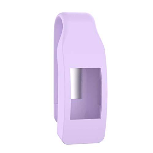 VvXx Schutzhülle für Fitbit Isnpire/Isnpire HR Tracker, aus Metall und Stahl, violett -