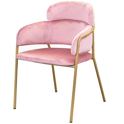 Creative Gold Accent Wohnzimmer Sessel Samt Esszimmerstuhl Eiffel Style Side Chair mit Metallbeinen Rückenlehne Armlehne Hocker Rückenlehne Stuhl (Set Mit 3 Accent Stühle)