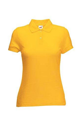 Fruite of the Loom Damen Lady-Fit 65/35 Pique Polo Shirt, vers.Farben Sonnenblumengelb