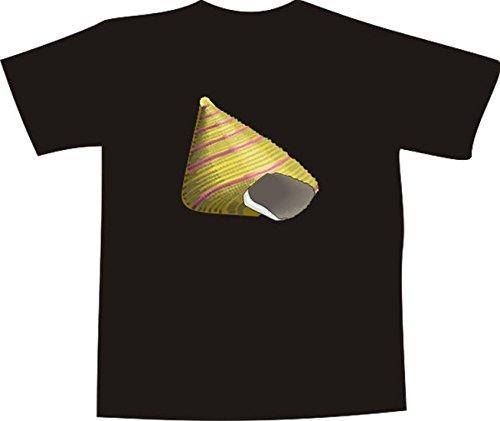 T-Shirt E736 Schönes T-Shirt mit farbigem Brustaufdruck - Logo / Grafik - Comic Design - schöne Seeschnecke im Meer Schwarz