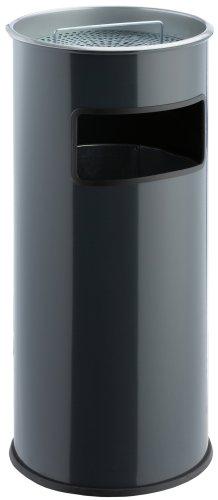color plateado 50 l Wesco 150 801-11 Papelera con cenicero