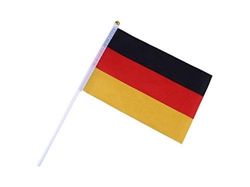 ADream Gymnastik Hand winkenden Deutschland Fahnen Kunststoff Polen Hand wehende Flagge Set von 10 Stück