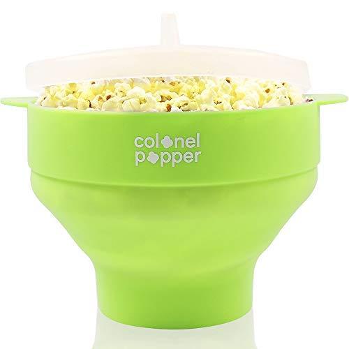 Colonel Popper Mikrowelle Popcorn maschine Hersteller, Silikon Heißluft Popcorn Schüssel (grün)